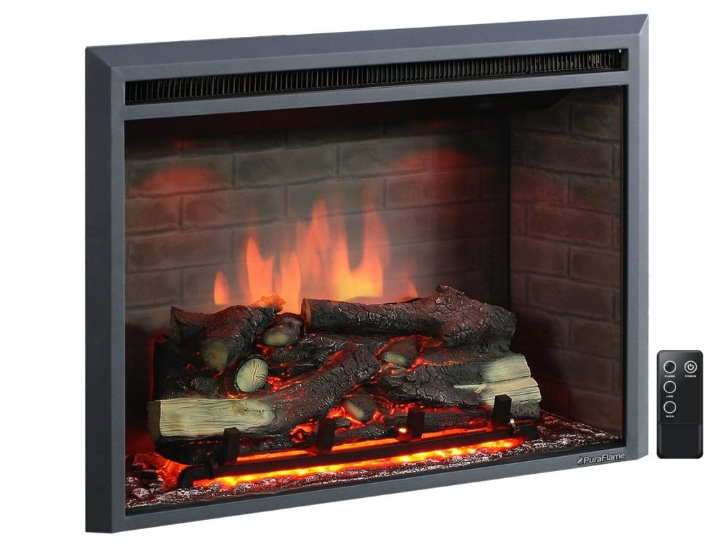 PuraFlame Western 33in Embedded Electric Firebox Heater