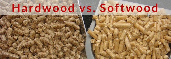 Hardwood vs softwood pellets