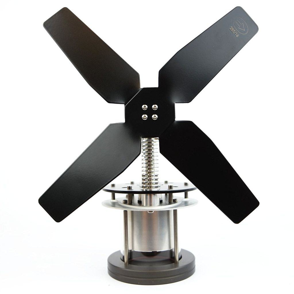 Heat Powered Stove Top Fan for wood multi-fuel coal